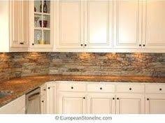 Kitchen Back Splash This Is The Same Stone We Have On Our - Stacked stone tile backsplash