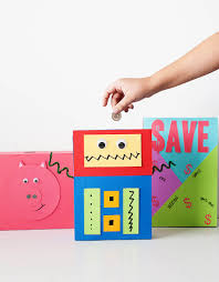 diy cereal box piggy banks simple kids craft ideas pinterest