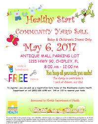 community yard sale healthy start florida department of health