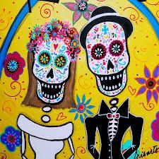 day of the dead wedding wedding day of the dead painting by pristine cartera turkus