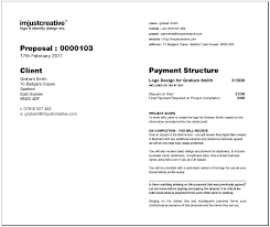 Construction Job Estimate Template by Freelance Logo Design Proposal Template For Download