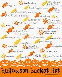 Halloween Bucket What Does The Cox Say Halloween Bucket List Printable