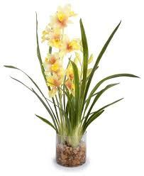 Silk Flower Arrangements Cymbidium Arrangement Transitional Artificial Flower