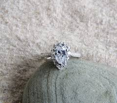 5 engagement ring 925 sterling silver rhodium 1 ct pear shape halo cz