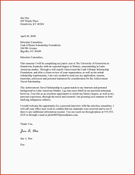 awesome applying for scholarships letter sample excuse letter