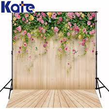 Photo Backdrops 10x10ft Kate Flower Vine Wood Photography Backdrops Flower Wood