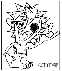 Moshi Monster Coloring Pages Printable Monsters Coloring Pages For Coloring Pages Monsters