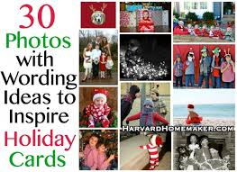 30 photos with wording ideas to inspire holiday cards harvard