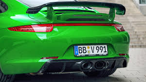 green porsche 2013 techart porsche 911 carrera 4s emerald green spoiler hd