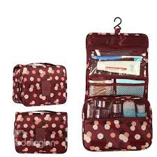 makeup travel bag images Claret daisy hanging toiletry bag cosmetic and makeup travel jpg