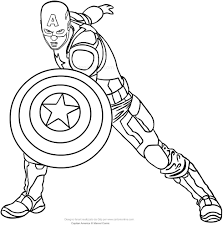 captain america coloring page cool captain america coloring pages