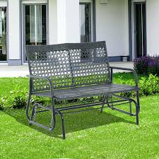 swinging outdoor bench outdoor porch swing bench cushion hayneedle