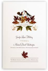 fall wedding programs fall wedding programs wedding ceremony programs wedding church