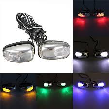 led lights for cars store 2015 new 2x chrome blue led light l windshield jet spray nozzle