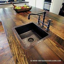 Best  Copper Sinks Ideas On Pinterest Country Kitchen Sink - Kitchen counter with sink