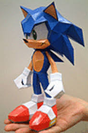 Sonic The Hedgehog Papercraft - sonic papercraft model paperox free papercraft