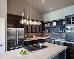 Black Kitchen Pendant Lights Appliances Contemporary Kitchen Design Glassy Pendant Lights