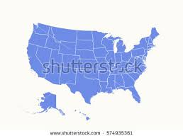usa map states vector free us map silhouette vector
