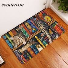 Thin Bathroom Rugs Fashion Vintage Flag Big Size Available Absorbent Soft Flannel