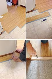 Laminate Floor To Tile Transition Vinyl Hardwood The Perfect Affordable Diy Flooring Maison De Pax