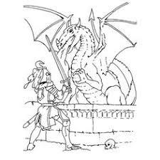 coloriage chevaliers au combat divers coloriage pinterest