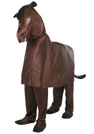 amazon com two person horse costume standard clothing