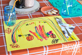 thanksgiving placemat crafts awesome with sprinkles
