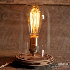 edison lamp vintage bell jar table lamp rustic industrial lamp