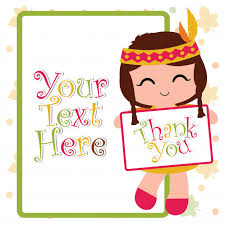 vector illustration with indian brings thank you