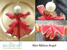 how to make a wire ribbon ornament by butler