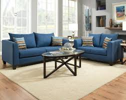Decorating With A Blue Sofa by Blue Streamlined Couch Set Factory Select Sofa And Loveseat