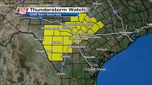 Austin Weather Map by Severe Thunderstorm Watch For San Antonio Surrounding