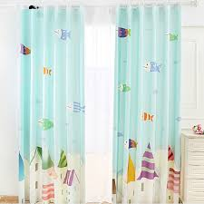Fish Curtains Lovely Fish Teal Color Blackout Nursery Curtains For