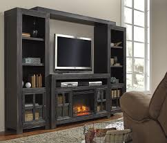 Living Room Wall Units With Fireplace Entertainment Wall Unit W Large Tv Stand Fireplace Bridge And