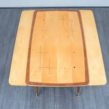 witty 1950s coffee table with inlaid work height adjustable