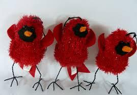 martha stewart everyday cardinal bird ornaments lot of 3 martha