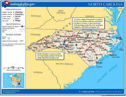 North Carolina State Map by The Old North State And The Tar Heel State Origin Meaning
