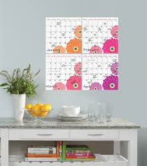 zinnia dry erase 4 piece calendar set removable wall decals zinnia dry erase 4 piece calendar set removable wall decals