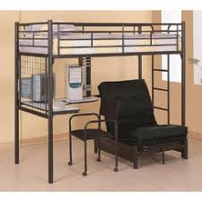Futon Bunk Bed - Wood bunk bed with futon