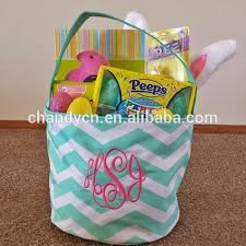 cheap easter baskets canvas chevron easter baskets wholesale buy easter baskets