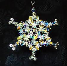 swarovksi snowflake ornament and matching ornament hook