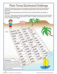 past tense quicksand worksheet education com