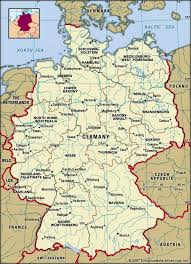 map of germany and surrounding countries with cities germany history geography britannica