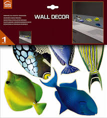 Home Decor Online In India by 21 Tropical Fish Wall Decals Home Full Colour Wall Stickers Full
