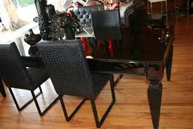 www roomservicestore com st tropez black mirrorred dining table