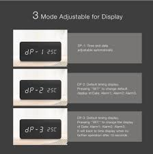 change desk appearance ticket date digoo dg ac2 3 mode wooden voice control led digital alarm clock