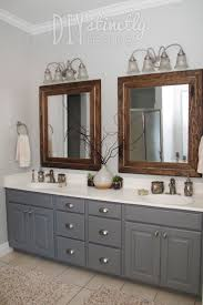 bathroom wooden frame mirror bathroom ikea applying grey