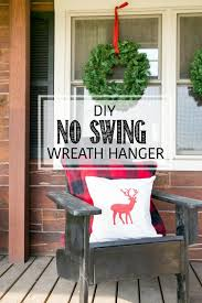 window wreaths diy no swing wreath hanger creative cain cabin