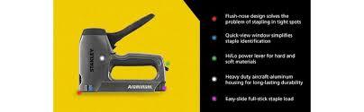Best Staple Size For Upholstery Stanley Tr250 Sharpshooter Plus Heavy Duty Staple Brad Nail Gun