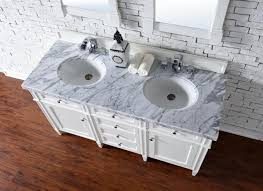 contemporary 60 inch double sink bathroom vanity cottage white
